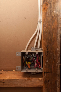 Switches for the vanity light and vent fan on the wall adjacent to the guest room (Image taken by Patrick R. Kane on 05 Aug 2011 with Canon EOS-1D Mark III at ISO 400, f5.0, 1/60 sec and 31mm)