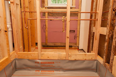 View of plumbing for shower. (Image taken by Patrick R. Kane on 05 Aug 2011 with Canon EOS-1D Mark III at ISO 400, f5.6, 1/60 sec and 20mm)