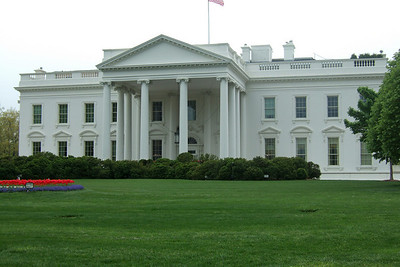 The White House. (Image taken by Kathy T. Kane on 19 Apr 2011 with FinePix F10 at ISO 80, f5.0, 1/300 sec and 12.2mm)
