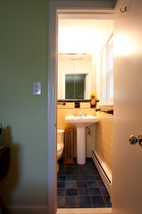 The original master bath will be demolished and rebuilt in an adjacent space so that it can provide double duty as a hallway bath and guest room bath. (Image taken by Patrick R. Kane on 02 Jul 2011 with Canon EOS-1D Mark III at ISO 200, f18.0, 1/2 sec and 16mm)