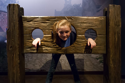 Sydney in a pillory at the National Museum of Crime & Punishment (Image taken by Patrick R. Kane on 24 Sep 2011 with Canon EOS-1D Mark III at ISO 1600, f2.8, 1/20 sec and 16mm)
