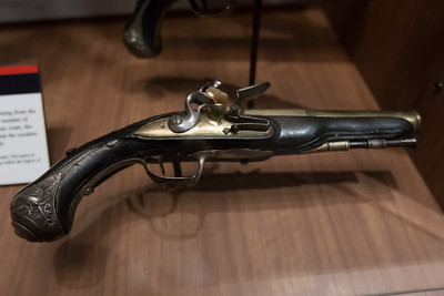 A musket at the National Museum of Crime & Punishment (Image taken by Patrick R. Kane on 24 Sep 2011 with Canon EOS-1D Mark III at ISO 1600, f3.2, 1/40 sec and 21mm)