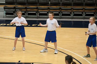 Lydia, Christopher and Lucy performing with the Taylor Elementary School's 5th Grade Dance Team during half-time at the George Washington University and Richmond women's basketball game. The dancers did a great job. Unfortunately for the Colonials, they let their 35-30 advantage at half-time slip away in a 55-68 loss to the Spiders. (Image taken by Patrick R. Kane on 08 Jan 2011 with Canon EOS-1D Mark III at ISO 800, f2.8, 1/500 sec and 150mm)