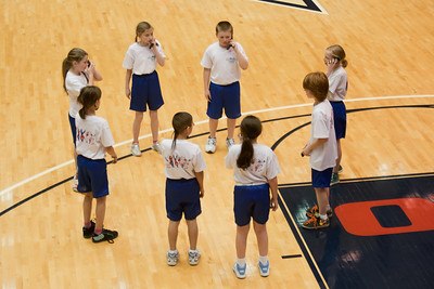 The Taylor Elementary School's 5th Grade Dance Team performing during half-time at the George Washington University and Richmond women's basketball game. The dancers did a great job. Unfortunately for the Colonials, they let their 35-30 advantage at half-time slip away in a 55-68 loss to the Spiders. (Image taken by Patrick R. Kane on 08 Jan 2011 with Canon EOS-1D Mark III at ISO 800, f2.8, 1/500 sec and 70mm)