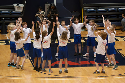 The Taylor Elementary School's 5th Grade Dance Team performing during half-time at the George Washington University and Richmond women's basketball game. The dancers did a great job. Unfortunately for the Colonials, they let their 35-30 advantage at half-time slip away in a 55-68 loss to the Spiders. (Image taken by Patrick R. Kane on 08 Jan 2011 with Canon EOS-1D Mark III at ISO 800, f2.8, 1/500 sec and 150mm)
