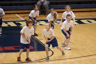Christian, Lucy, Christopher, Lydia, Jamie and a 4th grader performing with the Taylor Elementary School's 5th Grade Dance Team during half-time at the George Washington University and Richmond women's basketball game. The dancers did a great job. Unfortunately for the Colonials, they let their 35-30 advantage at half-time slip away in a 55-68 loss to the Spiders. (Image taken by Patrick R. Kane on 08 Jan 2011 with Canon EOS-1D Mark III at ISO 800, f2.8, 1/500 sec and 200mm)
