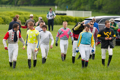 The jockeys get ready for the 86th running of the Virginia Gold Cup steeplechase race at Great Meadow in The Plains, Virginia (Image taken by Patrick R. Kane on 07 May 2011 with Canon EOS-1D Mark II at ISO 100, f2.8, 1/1600 sec and 200mm)