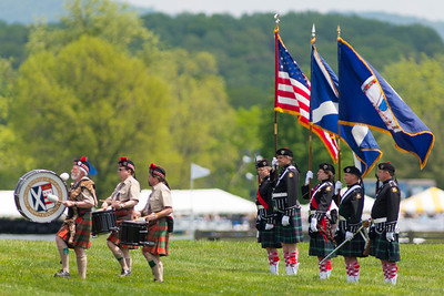 The Color Guard was presented by St. Andrew's Society Pipes and Drums Band. The 86th running of the Virginia Gold Cup steeplechase race at Great Meadow in The Plains, Virginia (Image taken by Patrick R. Kane on 07 May 2011 with Canon EOS-1D Mark III at ISO 100, f3.5, 1/1000 sec and 400mm)