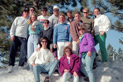 Ski trip to Mammoth Lakes, CA in November 1991.