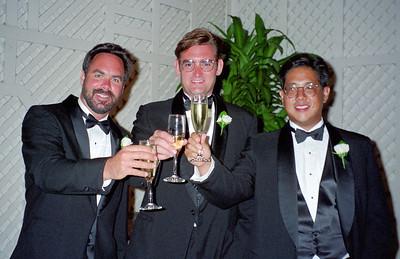 Craig Conner, Ken Michon and Chris Inaba at Dave and D'Anna's wedding.