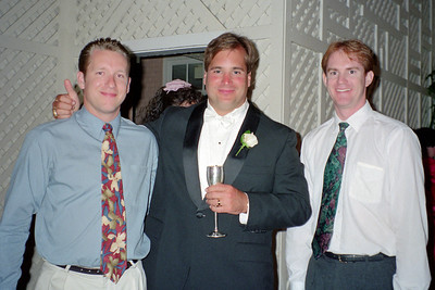 Patrick Kane, David Eggers and Victor Lucas at Dave and D'Anna's wedding.