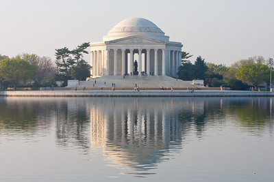 The Thomas Jefferson Memorial. This year's National Cherry Blossom Festival honors the 100-year anniversary of the gift of trees (Image taken by Patrick R. Kane on 23 Mar 2012 with Canon EOS 5D at ISO 100, f29.0, 1/15 sec and 102mm)