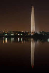 The Washington Monument and its reflection on the Tidal Basin. This year's National Cherry Blossom Festival honors the 100-year anniversary of the gift of trees (Image taken by Patrick R. Kane on 23 Mar 2012 with Canon EOS 5D at ISO 200, f22.0, 1/20 sec and 70mm)