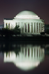The Thomas Jefferson Memorial and its reflection on the Tidal Basin. This year's National Cherry Blossom Festival honors the 100-year anniversary of the gift of trees (Image taken by Patrick R. Kane on 23 Mar 2012 with Canon EOS 5D at ISO 200, f22.0, 1/20 sec and 90mm)