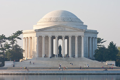 The Thomas Jefferson Memorial. This year's National Cherry Blossom Festival honors the 100-year anniversary of the gift of trees (Image taken by Patrick R. Kane on 23 Mar 2012 with Canon EOS 5D at ISO 100, f29.0, 1/15 sec and 200mm)
