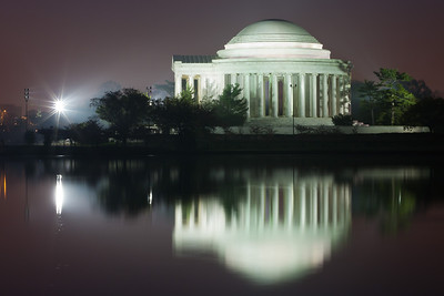 The Thomas Jefferson Memorial and its reflection on the Tidal Basin just before sunrise. This year's National Cherry Blossom Festival honors the 100-year anniversary of the gift of trees (Image taken by Patrick R. Kane on 23 Mar 2012 with Canon EOS 5D at ISO 200, f22.0, 1/20 sec and 90mm)