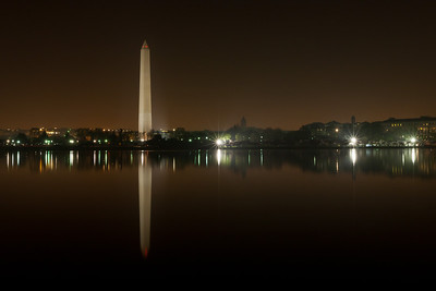 The Washington Monument and its reflection on the Tidal Basin. This year's National Cherry Blossom Festival honors the 100-year anniversary of the gift of trees (Image taken by Patrick R. Kane on 23 Mar 2012 with Canon EOS 5D at ISO 200, f22.0, 1/20 sec and 35mm)