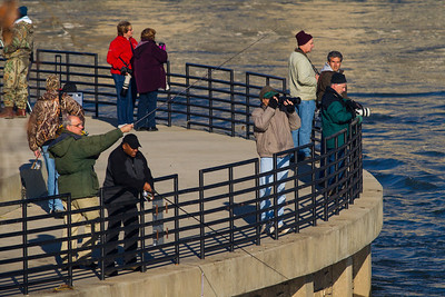 Fishermen and photographers at Conowingo Dam (Image taken by Patrick R. Kane on 21 Nov 2012 with Canon EOS-1D Mark IV at ISO 640, f8.0, 1/800 sec and 400mm)