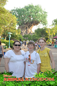 Aunt KK celebrating her 50th birthday with Christopher and Sydney in front of the Tree of Life at Disney's Animal Kingdom on 28 May 2012