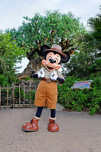 Mickey Mouse in front of the Tree of Life at Disney's Animal Kingdom