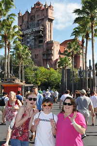 Sydney and Christopher with Aunt KK at Disney's Hollywood Studios