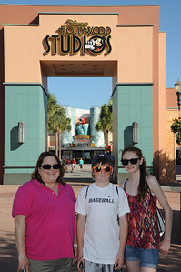 Aunt KK with Christopher and Sydney at Disney's Hollywood Studios on 26 May 2012