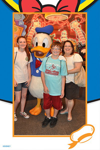 Sydney and Christopher with Aunt KK at Epcot, Walt Disney World on 25 May 2012