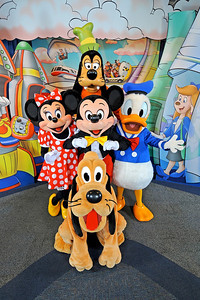 Mickey Mouse, Minnie Mouse, Donald Duck, Goofy and Pluto