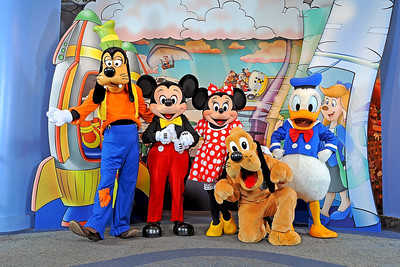Goofy, Mickey Mouse, Minnie Mouse, Pluto and Donald Duck
