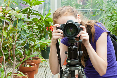 Sydney taking pictures in the greenhouse at Hillwood Estate, Museum & Gardens (Image taken by Patrick R. Kane on 29 Sep 2012 with Canon EOS-1D Mark III at ISO 400, f8.0, 1/25 sec and 70mm)