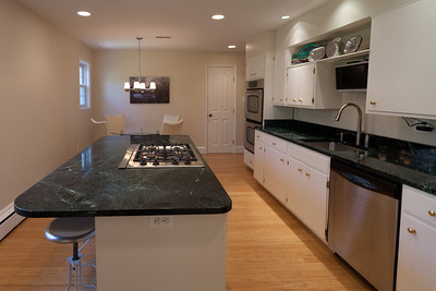 We Replaced The Blue Formica Countertops With Vermont Verde Antique, A Dark  Green Serpentine Stone