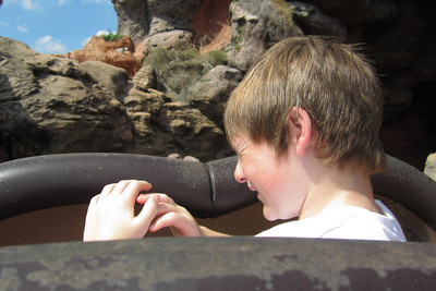 Christopher just got wet on Splash Mountain at Disney's Magic Kingdom (Image taken by Kathy L. Kane on 27 May 2012 with Canon PowerShot ELPH 100 HS at ISO 0, f2.8, 1/1250 sec and 5mm)