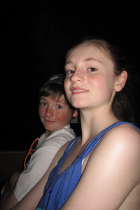 Christopher and Sydney on the Pirates of the Caribbean ride at Disney's Magic Kingdom (Image taken by Kathy L. Kane on 27 May 2012 with Canon PowerShot ELPH 100 HS at ISO 0, f2.8, 1/60 sec and 5mm)
