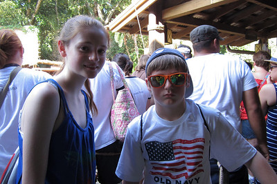 Sydney and Christopher getting ready for the Jungle Cruise at Disney's Magic Kingdom (Image taken by Kathy L. Kane on 27 May 2012 with Canon PowerShot ELPH 100 HS at ISO 0, f2.8, 1/60 sec and 5mm)