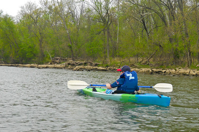 Christopher kayaking on the Potomac River (Image taken by Patrick R. Kane on 04 Apr 2012 with COOLPIX S570 at ISO 80, f3.7, 1/250 sec and 9.6mm)
