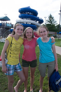 Sydney, Nora and Addie at Great Waves Waterpark (28 Aug 2012)