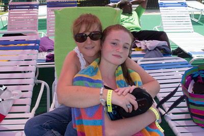 Kathy and Sydney enjoying the day at Great Waves Waterpark (16 Aug 2012)