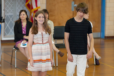 Sydney's friend, Haley. 8th Grade Promotion at Williamsburg Middle School (Image taken by Patrick R. Kane on 21 Jun 2012 with Canon EOS 5D at ISO 400, f2.8, 1/125 sec and 145mm)