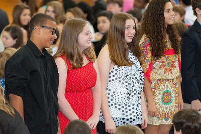 Sydney's friend, Claire (at left). 8th Grade Promotion at Williamsburg Middle School (Image taken by Patrick R. Kane on 21 Jun 2012 with Canon EOS 5D at ISO 400, f2.8, 1/80 sec and 180mm)