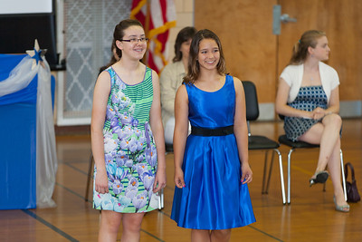 Sydney's friends, Caroline and Savannah. 8th Grade Promotion at Williamsburg Middle School (Image taken by Patrick R. Kane on 21 Jun 2012 with Canon EOS 5D at ISO 400, f2.8, 1/125 sec and 182mm)