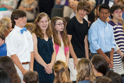 Sydney's friend, Natalie, Margaret and Amy. 8th Grade Promotion at Williamsburg Middle School (Image taken by Patrick R. Kane on 21 Jun 2012 with Canon EOS 5D at ISO 400, f2.8, 1/125 sec and 200mm)
