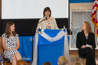 A guest speaker from the school board. 8th Grade Promotion at Williamsburg Middle School (Image taken by Patrick R. Kane on 21 Jun 2012 with Canon EOS 5D at ISO 400, f2.8, 1/160 sec and 200mm)