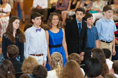Sydney's friend, Savannah (in the middle). 8th Grade Promotion at Williamsburg Middle School (Image taken by Patrick R. Kane on 21 Jun 2012 with Canon EOS 5D at ISO 400, f2.8, 1/80 sec and 200mm)