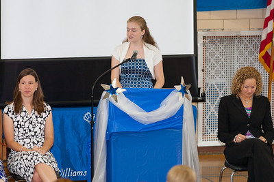 Emma Banchoff of Washington-Lee High School, winner of the WMS Student Council Association's scholarship. 8th Grade Promotion at Williamsburg Middle School (Image taken by Patrick R. Kane on 21 Jun 2012 with Canon EOS 5D at ISO 400, f2.8, 1/125 sec and 200mm)