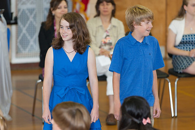 Sydney's friend, Mary. 8th Grade Promotion at Williamsburg Middle School (Image taken by Patrick R. Kane on 21 Jun 2012 with Canon EOS 5D at ISO 400, f2.8, 1/100 sec and 200mm)