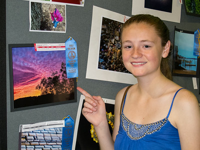 'A Setting Rainbow,' 1st Place, 2014 Arlington County Fair