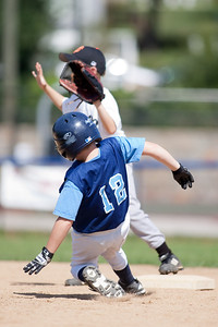 Christopher steals 2nd base. The Arlington Little League Bandits 9-yr old team wins a 10-3 scrimmage over Mason District Little League in fall ball. Bandits vs Mason (20 Sep 2009) (Image taken by Patrick R. Kane on 20 Sep 2009 with Canon EOS-1D Mark II at ISO 100, f2.8, 1/1000 sec and 300mm)
