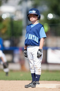 The Arlington Little League Bandits 9-yr old team wins a 10-3 scrimmage over Mason District Little League in fall ball. Bandits vs Mason (20 Sep 2009) (Image taken by Patrick R. Kane on 20 Sep 2009 with Canon EOS-1D Mark II at ISO 100, f2.8, 1/1000 sec and 300mm)