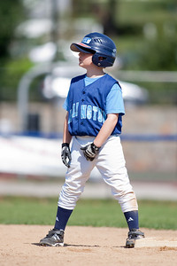 Christopher safely on 2nd base after a steal. The Arlington Little League Bandits 9-yr old team wins a 10-3 scrimmage over Mason District Little League in fall ball. Bandits vs Mason (20 Sep 2009) (Image taken by Patrick R. Kane on 20 Sep 2009 with Canon EOS-1D Mark II at ISO 100, f2.8, 1/1000 sec and 300mm)