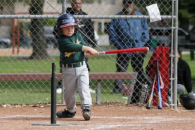 #05 Christopher Kane at bat. Athletics vs. Astros, 2006 North Side Little League Baseball, Tee Ball Division